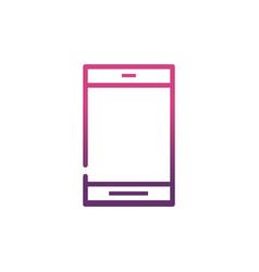 smartphone network social media icon line vector image