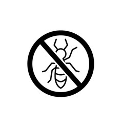 stop pest logo icon sign black vector image