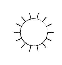 Sun icon in monochrome blurred silhouette vector