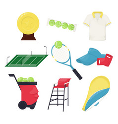 tennis ball equipment game ball play vector image