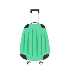 travel suitcase isolated on white background vector image