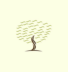 tree growth abstract naturally business logo vector image