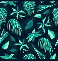 tropical palm seamless pattern summer background vector image