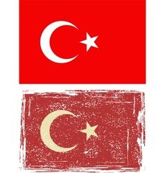 Turkish grunge flag vector