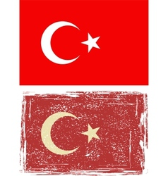 Turkish grunge flag vector image
