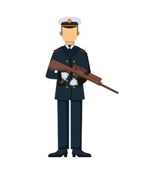 USA troop armed forces man with weapon vector image