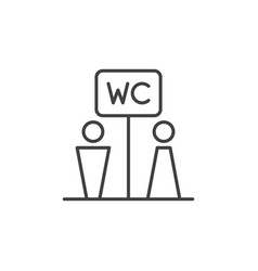 Wc toilet concept simple icon in thin line vector