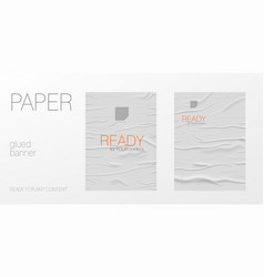 wrinkled glued paper poster ready for content vector image
