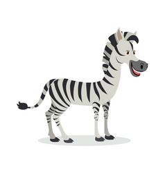Zebra cartoon icon in flat design vector