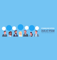 business people group communication concept team vector image