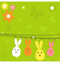 Easter card3 vector image vector image