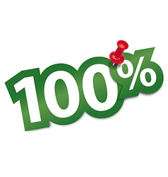 Hundred percent sticker vector image vector image