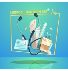 Medical Object Set vector image vector image