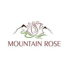 mountain rose design template vector image