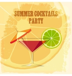 Summer Cocktail Party vector image