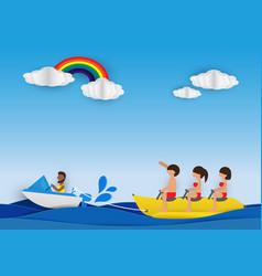 banana boat vector image vector image