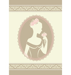 Lady in a wedding dress vector image