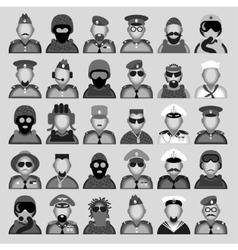Military avatars vector image
