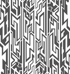monochrome tribal seamless pattern vector image