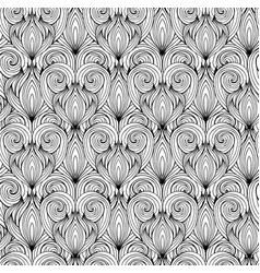 seamless texture with black and white doodle vector image