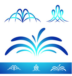 simple fontain set vector image vector image