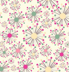 Abstract Seamless Pattern with Flowers Background vector image