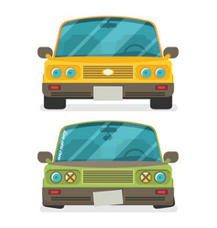 car front view low car tuning colorful of vehicle vector image vector image