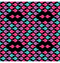 cartoon fishes pattern vector image vector image