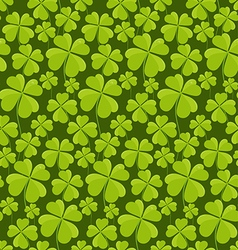 Clovers seamless pattern vector image