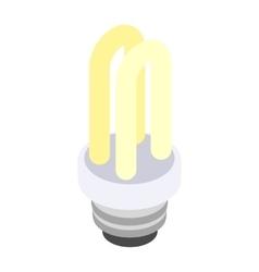 Energy saving fluorescent light bulb icon vector image vector image