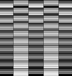 Monochrome gradient geometric squares abstract bac vector image
