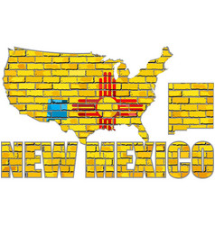 new mexico on a brick wall vector image