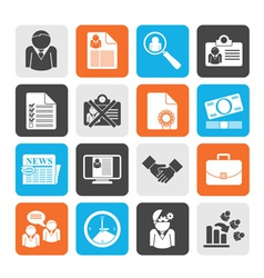 Silhouette Employment and jobs icons vector image