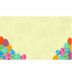 background of easter egg vector image vector image