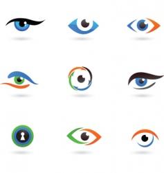 eye logos vector image vector image