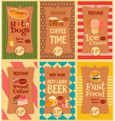 food stickers set vector image vector image