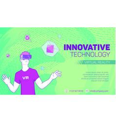 futuristic virtual reality banner vector image