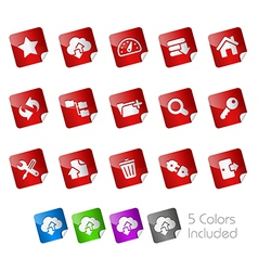 Hosting Stickers vector image vector image