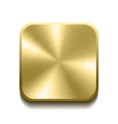 Realistic gold button vector image