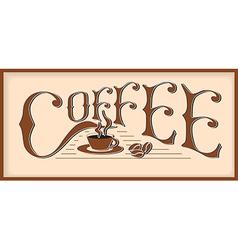 word coffee vector image