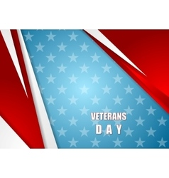 Abstract Veterans Day background vector image