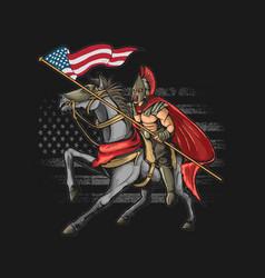 American warrior grunge graphi vector