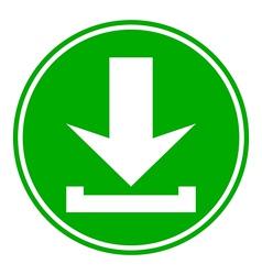 Arrow download button vector