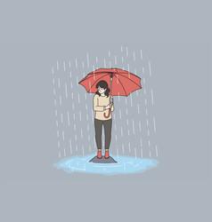 Bad weather rain storm concept vector
