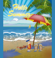 Banner summer vacation and travel design vector