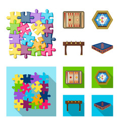 Board game cartoonflat icons in set collection vector