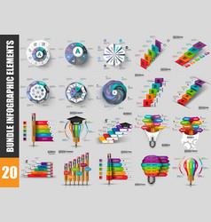 bundle infographic data visualization vector image
