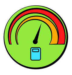 Car fuel gauge icon cartoon vector