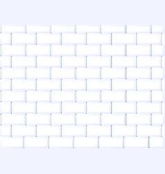 Ceramic brick tile wall vector