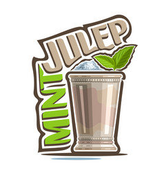 Cocktail mint julep vector